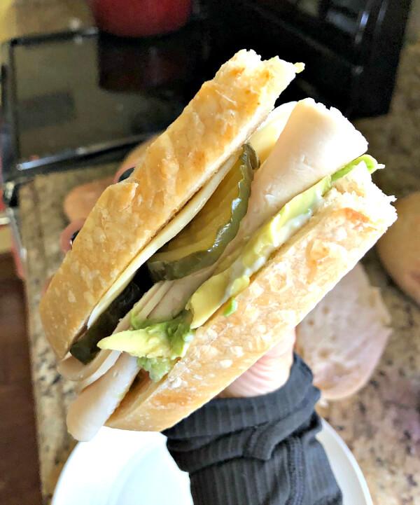 Turkey Sandwich on Homemade Sourdough