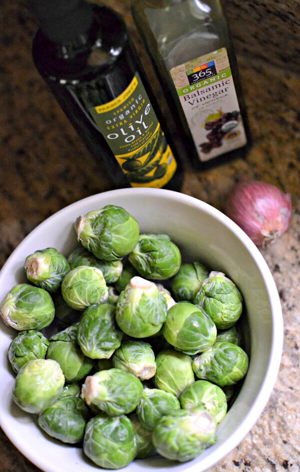 Balsmic Glazed Roasted Brussels Sprouts