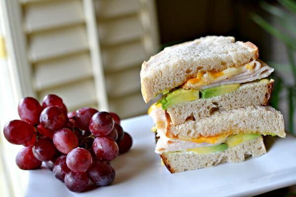 turkey sandwich on sourdough