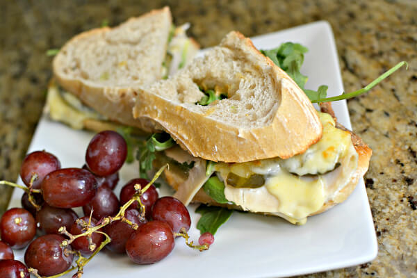 turkey sandwich on sourdough bread
