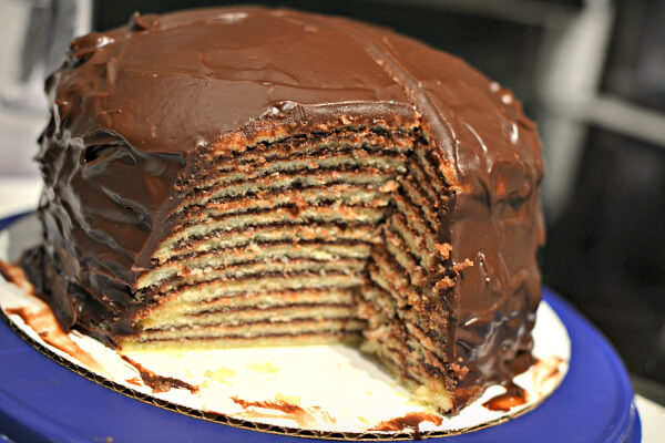 14 layer chocolate cake