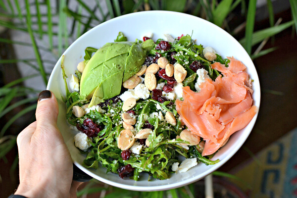 Arugula, Smoked Salmon and Avocado Salad