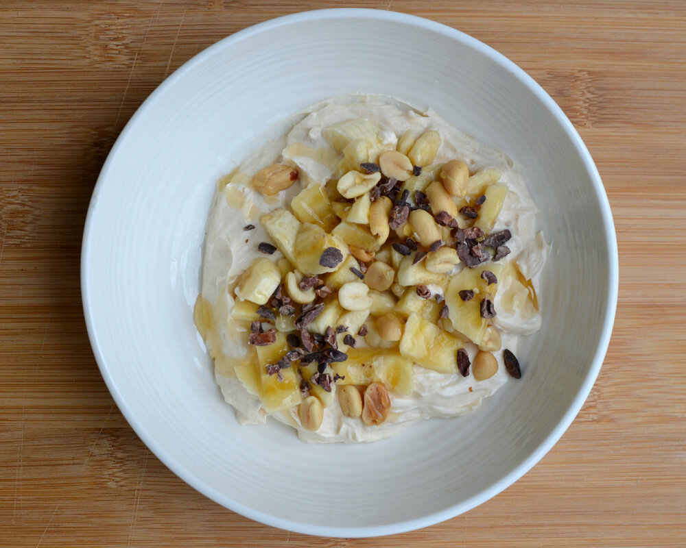 Peanut Butter Greek Yogurt Bowl