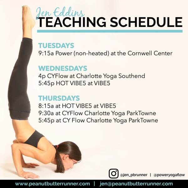 jen eddins yoga teaching schedule