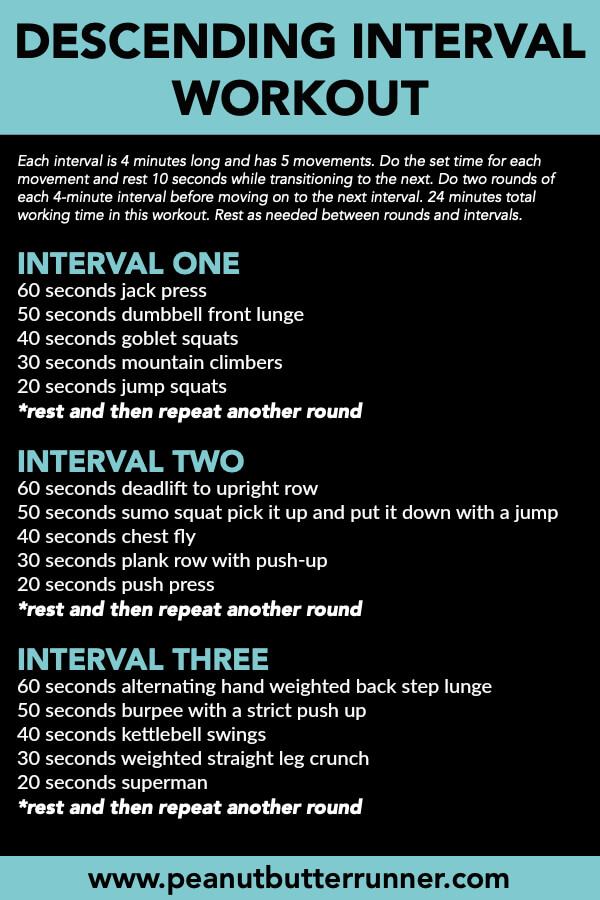 descending interval workout