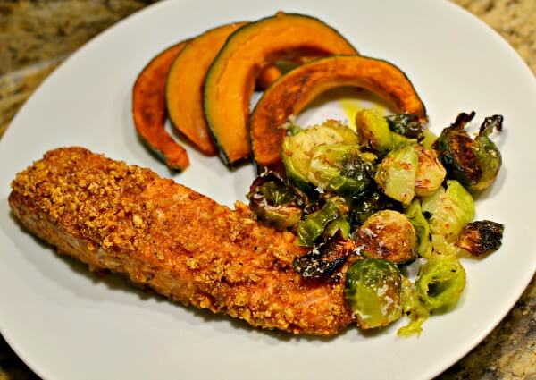 Whole Foods maple almond crusted salmon