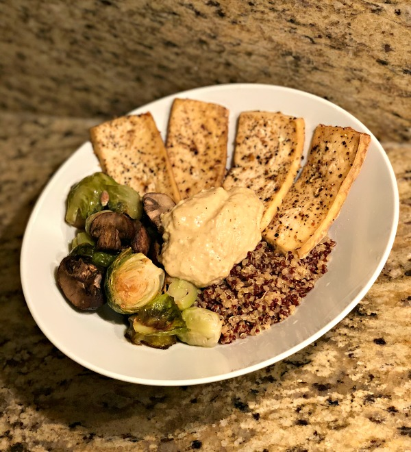 baked tofu with quinoa