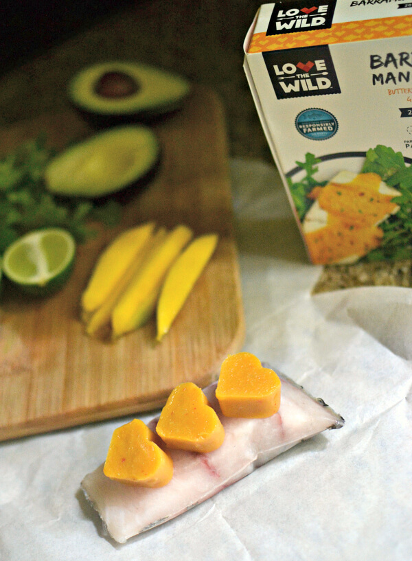 Love the Wild Barramundi with Mango Sriracha