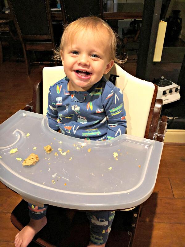 finn's recent eats at 15 months  peanut butter runner