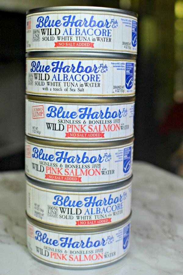 blue harbor albacore tuna and pink salmon