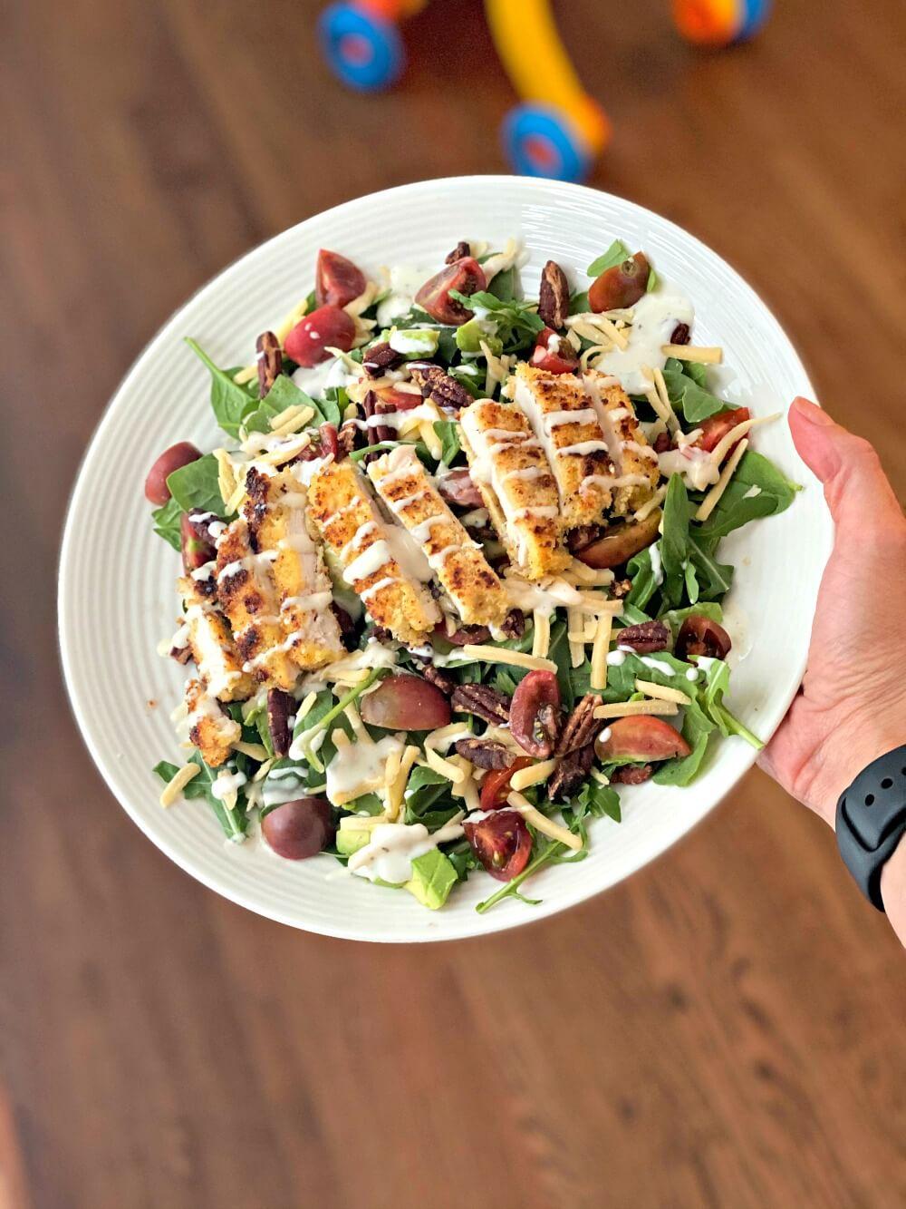 panko crusted chicken salad