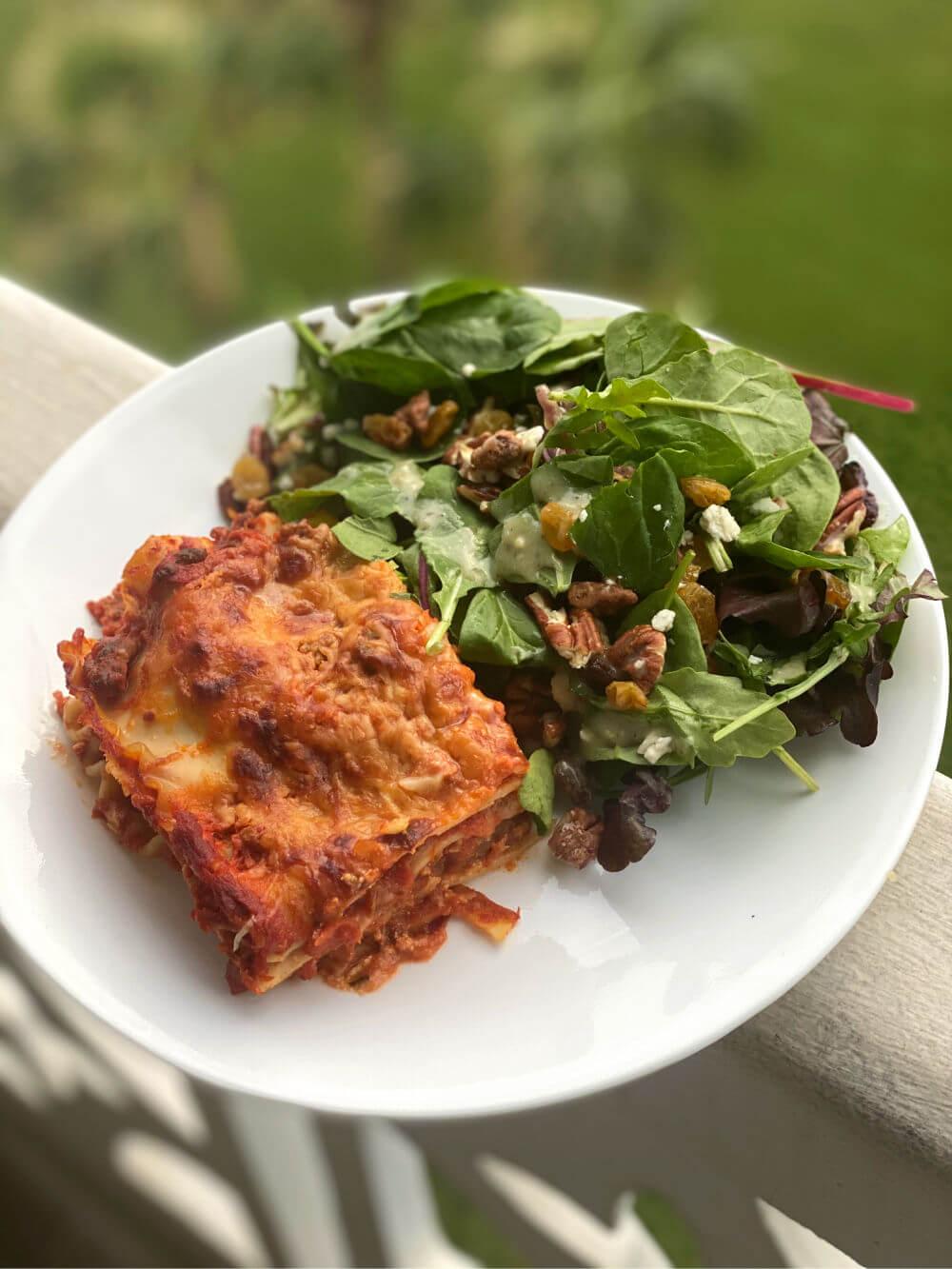 homemade lasagna