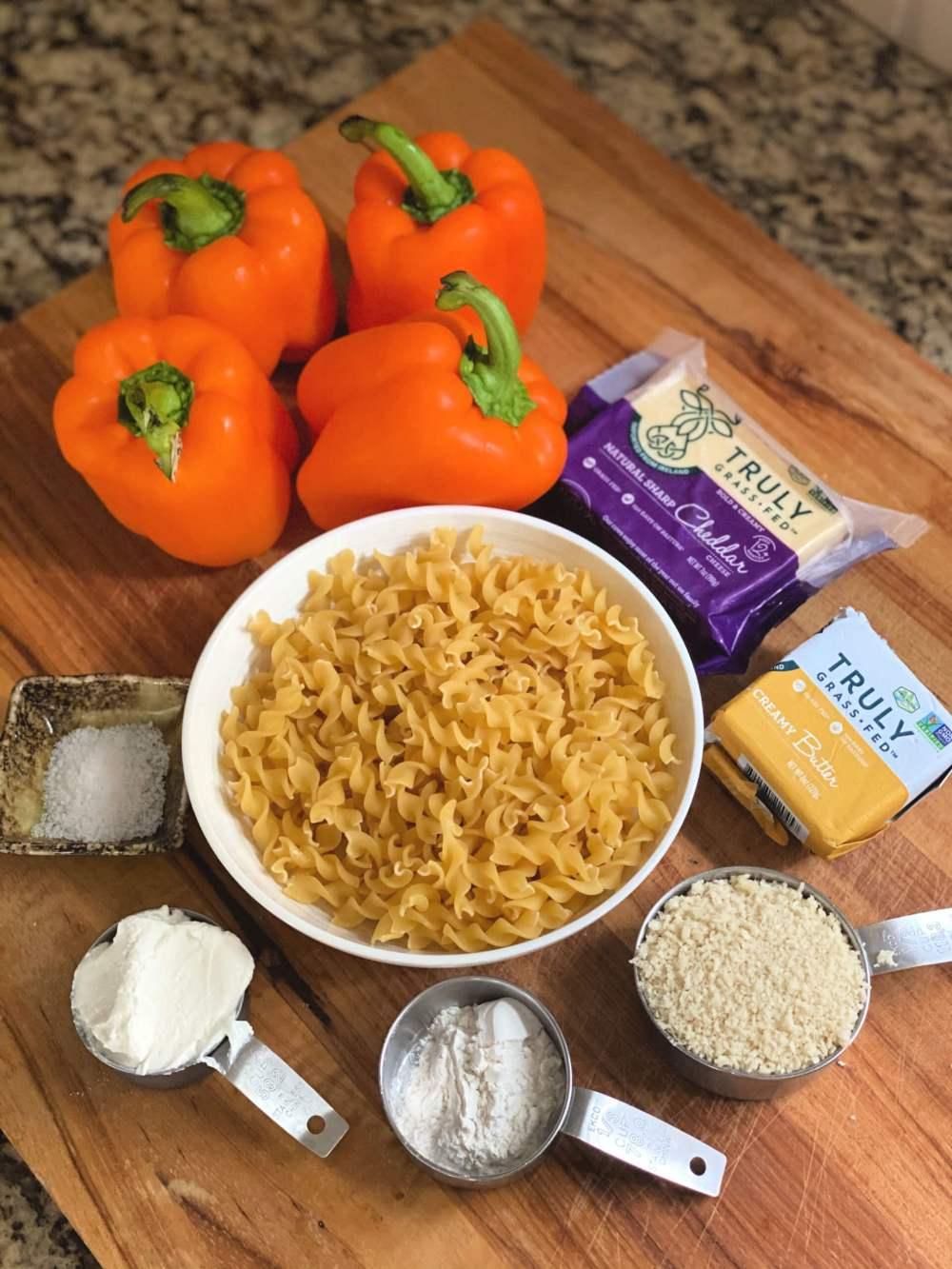 macaroni and cheese stuffed peppers