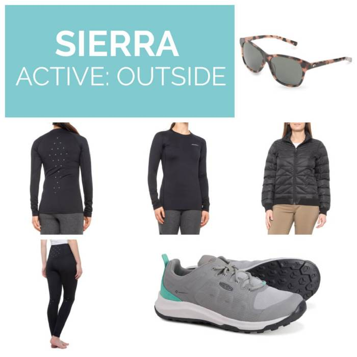Sierra active outdoor clothing