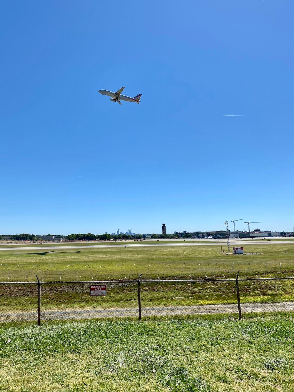 Charlotte airport overlook park