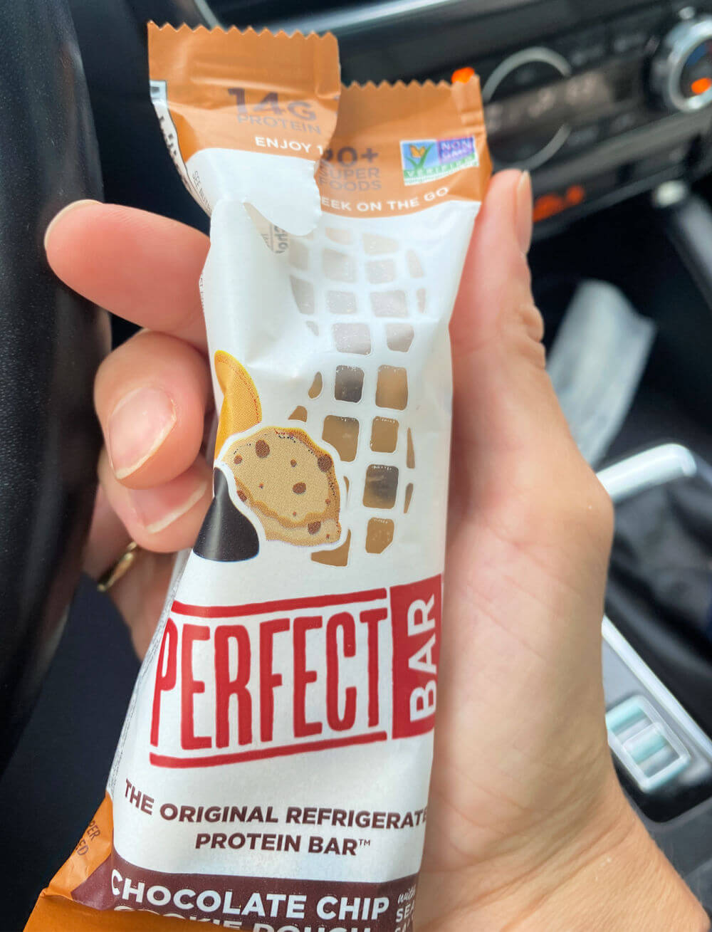 chocolate chip cookie dough perfect bar
