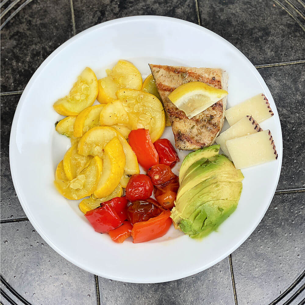 grilled swordfish lunch