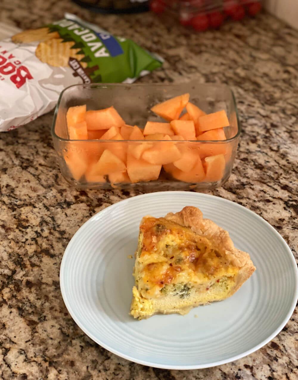 broccoli cheddar cottage cheese quiche