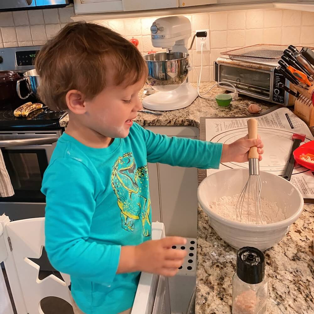 baking with a three year old
