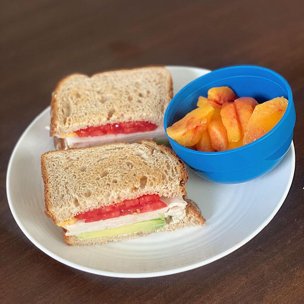 turkey sandwich on dave's killer bread white done right