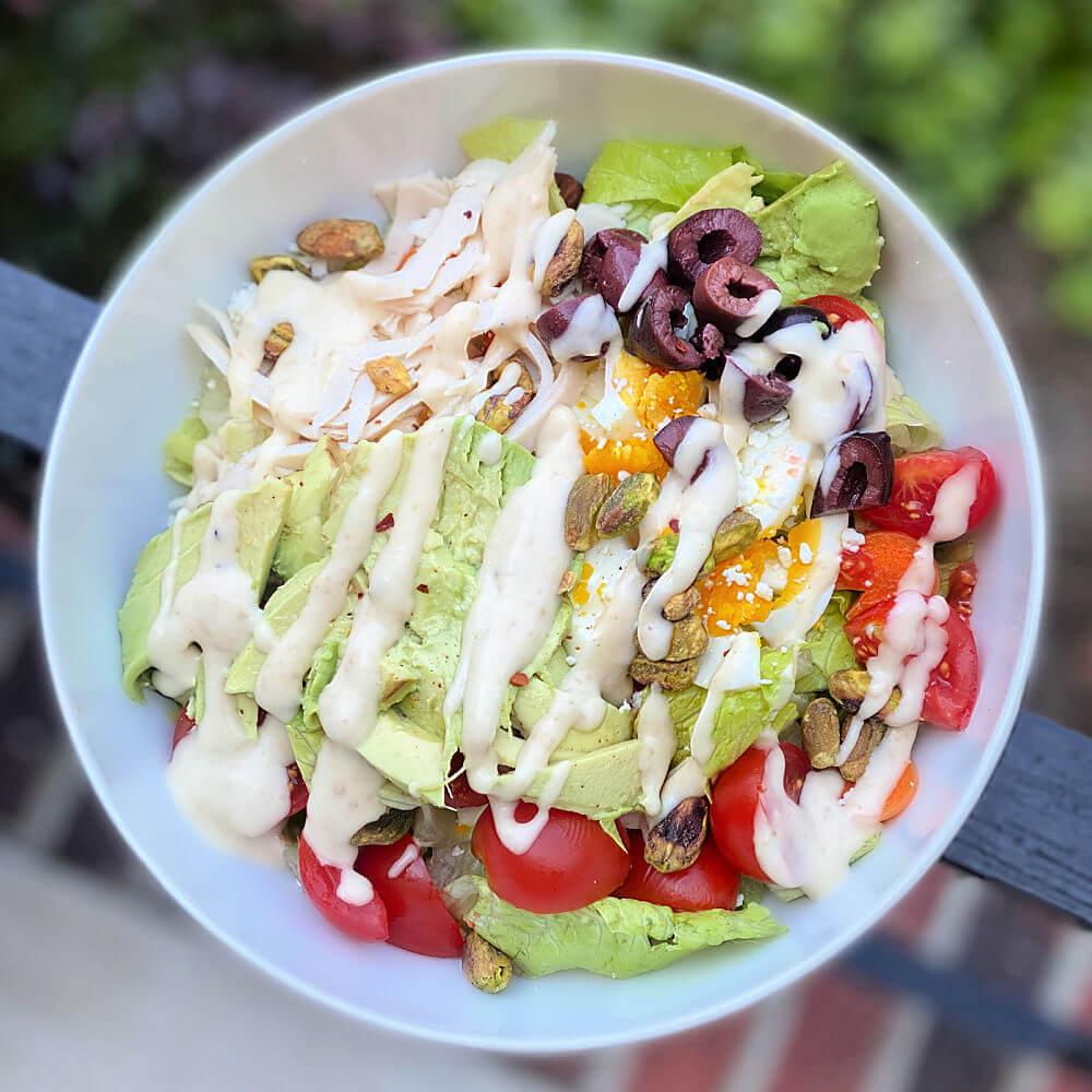 romaine salad bowl