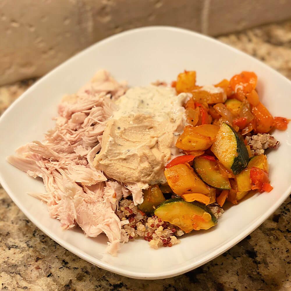 chicken and pesto veggies