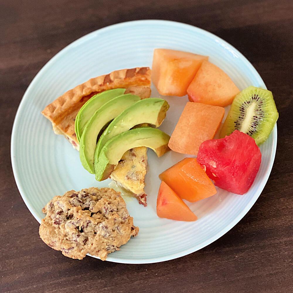 quiche with avocado