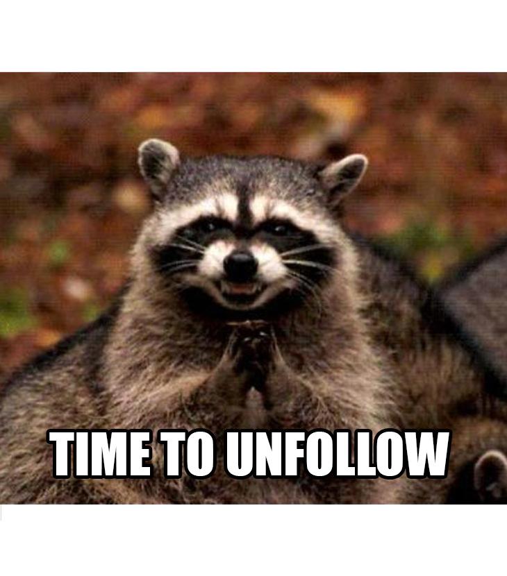 Social Media Unfollowing