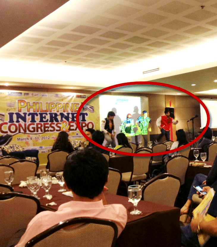 Dancers at the Philippine Internet Congress
