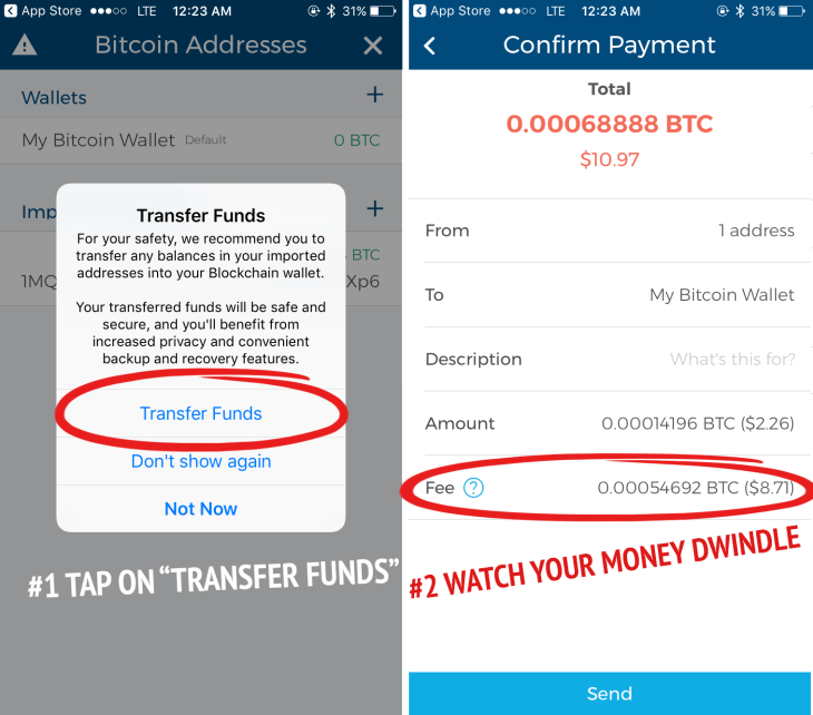 Transferring your bitcoin