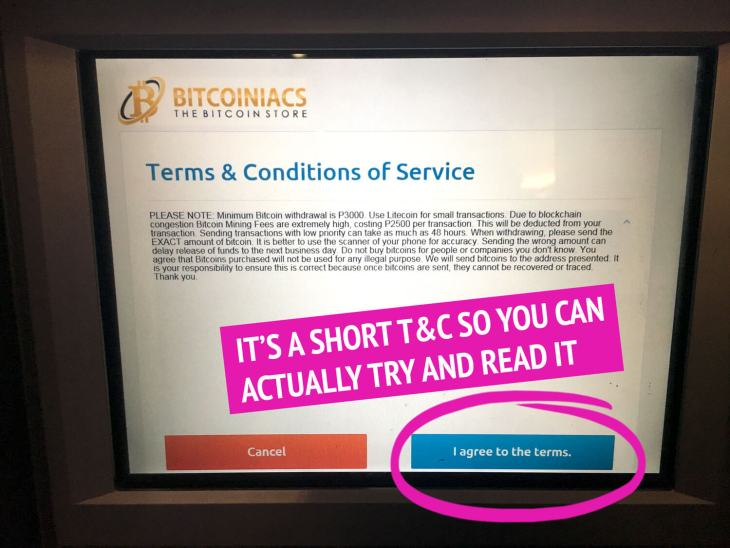 Terms and Conditions Bitcoin ATM