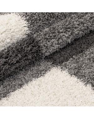 fibres longues hirsute salon shaggy tapis de parement 3cm gris blanc gris clair