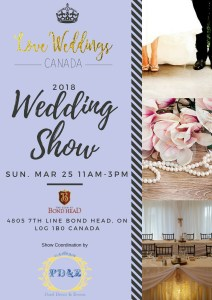 wedding show, ontario, bradford, cookstown, bond head, newmarket, aurora, orangeville, barrie, oro, Angus, alliston, bridal show, wedding pros, local, pearl decor,