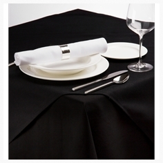 Black table topper
