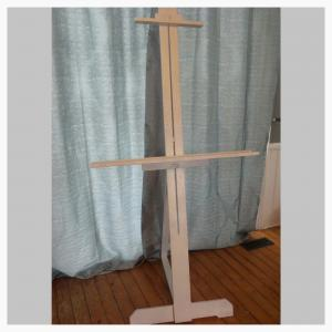 Easel White wooden