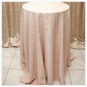 Beige damask tablecloth