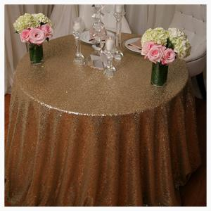Gold or Silver Sequin tablecloths