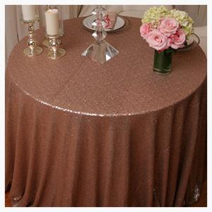 Rose Gold Sequin tablecloths