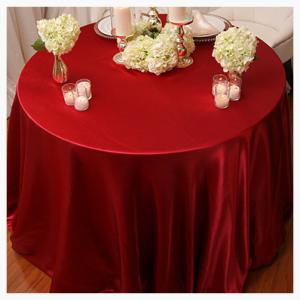 Red Satin tablecloths