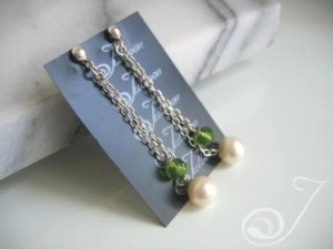 Helen of Troy Green Drop Earrings