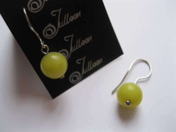Grape Green - Serpentine Earring