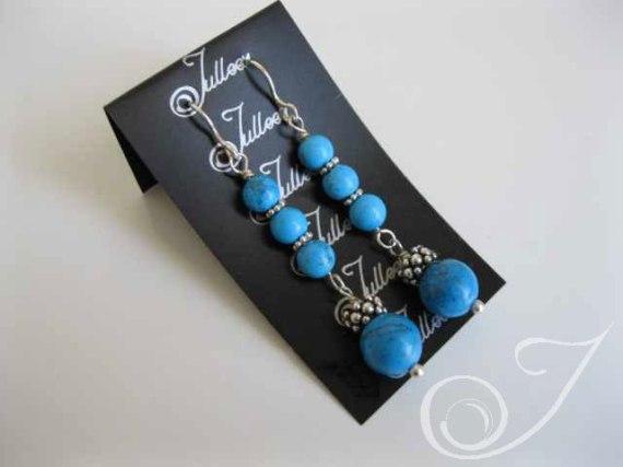 Mykonos Blue Earrings