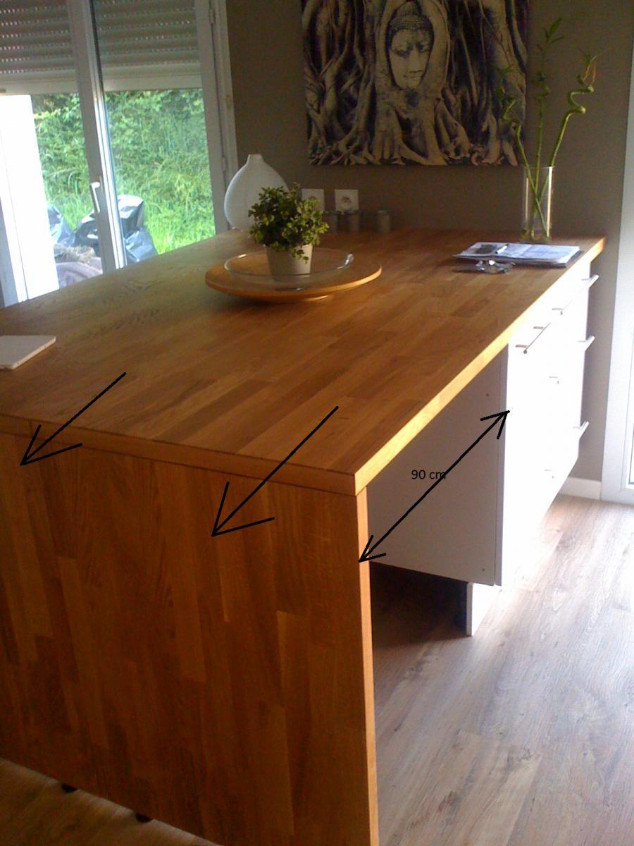 table de cuisine contre mur