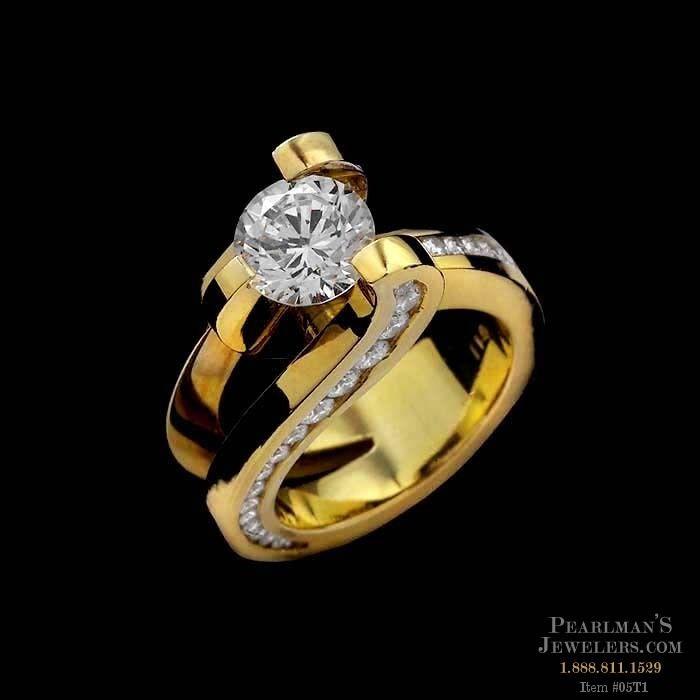Eddie Sakamoto Jewelry Modern Style 18k Gold Ring