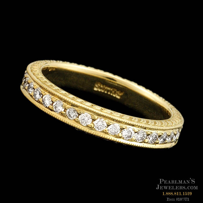 Scott Kay Jewelry 19k Yellow Gold Diamond Eternity Wedding