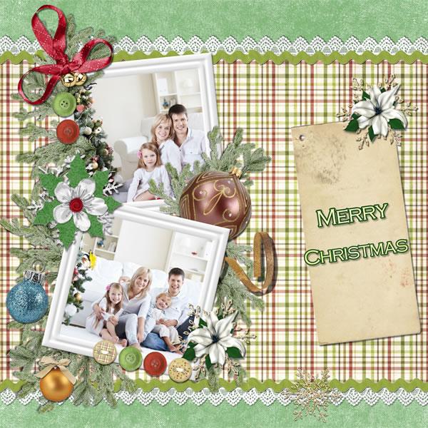 Christmas Scrapbook Templates Christmas Scrapbook Samples