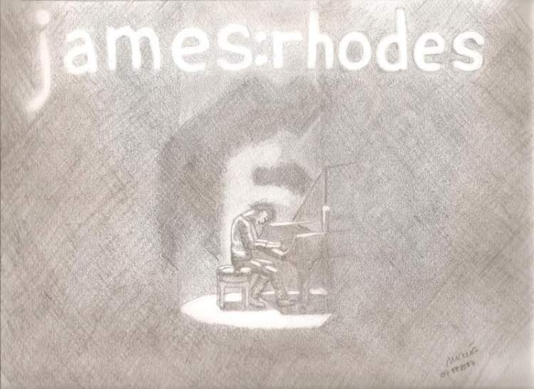 James Rhodes pencil drawing