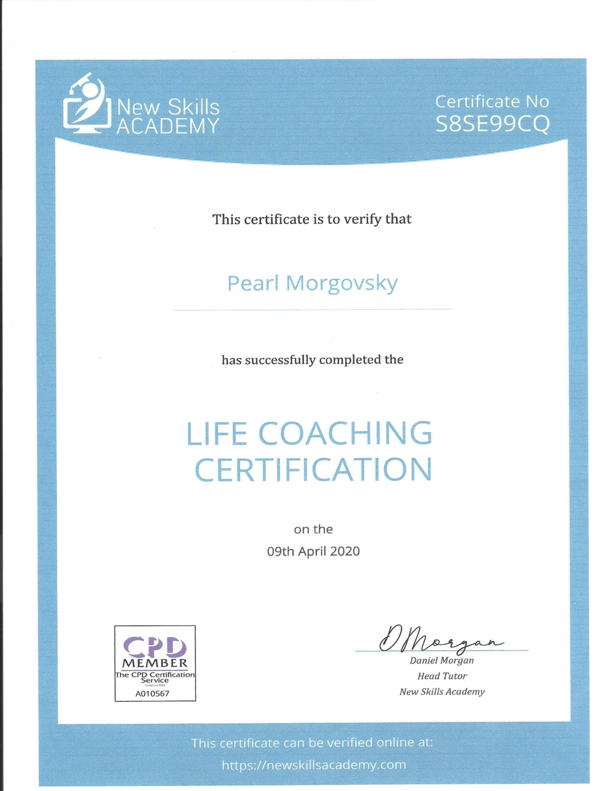 CoC New Skills Academy : Life Coaching Certifications