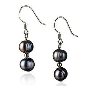 Black Keshi Pearl Earrings