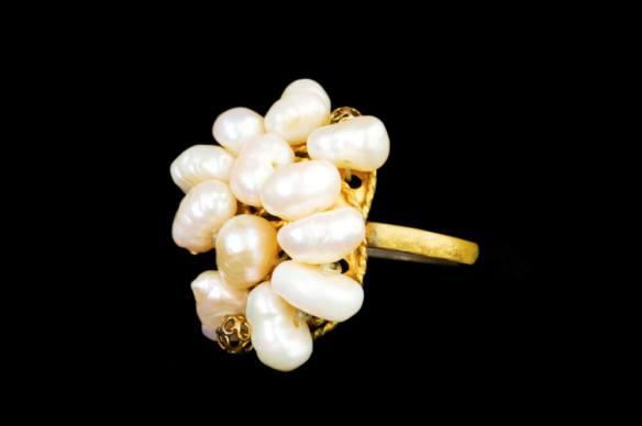 cluster pearl rings